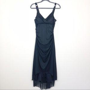 Vintage Y2K Grunge High Low Witch Cocktail Dress